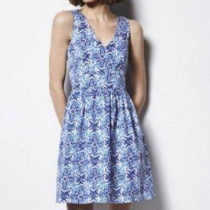 Milly for Design Nation - Blue Floral Fit & Flare